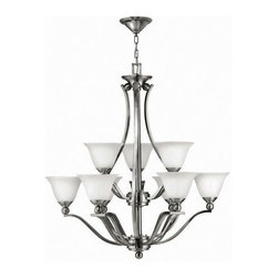 Hinkley Lighting - Hinkley Lighting 4657BN Bolla Brushed Nickel 9 Light Chandelier - Hinkley Lighting 4657BN Bolla Brushed Nickel 9 Light Chandelier