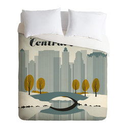 DENY Designs - DENY Designs Anderson Design Group Central Park Snow Duvet Cover - Lightweight - Turn your basic, boring down comforter into the super stylish focal point of your bedroom. Our Lightweight Duvet is made from an ultra soft, lightweight woven polyester, ivory-colored top with a 100% polyester, ivory-colored bottom. They include a hidden zipper with interior corner ties to secure your comforter. It is comfy, fade-resistant, machine washable and custom printed for each and every customer. If you're looking for a heavier duvet option, be sure to check out our Luxe Duvets!