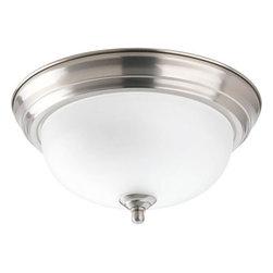"Progress Lighting - Progress Lighting P3924-EB 11-3/8"" Single Light Flush Mount Ceiling Fixture - Features:"