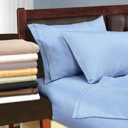 None - Egyptian Cotton 1500 Thread Count Solid Oversized Sheet Set - Enjoy the beauty and comfort of this remarkable Egyptian cotton sheet set. The 1500-thread count offers true,luxurious Egyptian cotton. With the four-inch hems and piping design,this set is elegant.