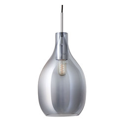 Onion Bulb Pendant in Gray - Like a jewel hanging from the ceiling, the Onion Bulb Pendant cascades its brilliance in any room for a chic, modern-industrial flair. Tinted in gray, this glass light fixture lights up a room, even when not in use.