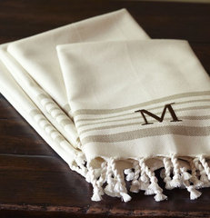 traditional table linens by Pottery Barn