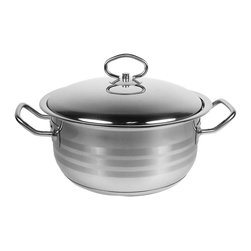 None - Prestige 18/10 Stainless Steel 8-Quart Stock Pot - Make a great stew or your favorite soup with this elegant Prestige Stock Pot. The heavy capsulated bottom makes sure every meal is cooked evenly and tastefully,no kitchen should be without it.
