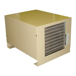 Vinotemp - 23 in. Wine Cellar Cooling System - Ceiling mounted. Made from metal. Coverage size: 500 cu. ft. or approximately 1000 bottles. Includes outdoor enclosure. 18 in. W x 12 in. D x 14 in. H (40 lbs.). Assembly required. Custom made: 2 to 3 weeks lead time. Split system wine cooling unit. Fan coil specs: 115/60Hz, 1A, 35 lbs.. Fan coil: 17.5 in. W x 23 in. D x 7.5 in. H. Condensing unit specs: 115V/60Hz, 5.7A, UL listed, 40 lbs.. Condensing unit: 18 in. W x 12 in. D x 14 in. H. Condensing unit can be placed up to 50 feet away from the fan coil. Cold air is fed into the cabinet or room (via the evaporator) through a copper pipe. Warranty