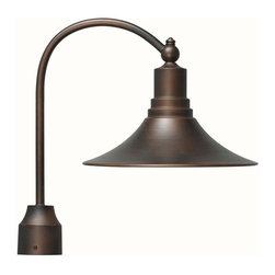 World Imports - Dark Sky Kingston Outdoor Post Light, Antique Copper - Aluminum and brass fixture is ideal for outdoor installation