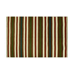 Area Rug, 4'X6' Durie Kilim 100% Wool Striped Hand Woven Flat Weave Rug SH6355 - Soumaks & Kilims are prominent Flat Woven Rugs.  Flat Woven Rugs are made by weaving wool onto a foundation of cotton warps on the loom.  The unique trait about these thin rugs is that they're reversible.  Pillows and Blankets can be made from Soumas & Kilims.