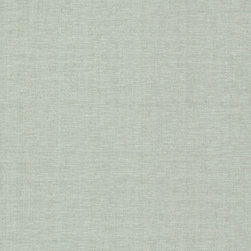 Brewster Home Fashions - Valois Sage Linen Texture Wallpaper Bolt - A soothing linen texture in a cool pearlescent sage hue.