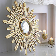Eclectic Wall Mirrors by an angel at my table