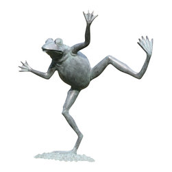 """SPI - Dancing Frog Spitter - -Size: 23"""" H x 19.5"""" W x 9"""" D"""