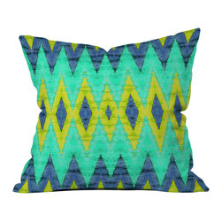 DENY Designs - Ingrid Padilla Impress 2 Outdoor Throw Pillow - Do you hear that noise? it's your outdoor area begging for a facelift and what better way to turn up the chic than with our outdoor throw pillow collection? Made from water and mildew proof woven polyester, our indoor/outdoor throw pillow is the perfect way to add some vibrance and character to your boring outdoor furniture while giving the rain a run for its money. Custom printed in the USA for every order.