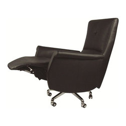 Fine Mod Imports - Relaxer Black Reclining Office Chair - Features: