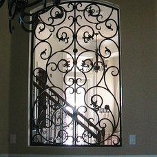 Mediterranean Windows by Lidia M. Luna At Forge Iron Designs