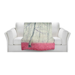 DiaNoche Designs - Throw Blanket Fleece - Monika Strigel Bleeding Tears - Original Artwork printed to an ultra soft fleece Blanket for a unique look and feel of your living room couch or bedroom space.  DiaNoche Designs uses images from artists all over the world to create Illuminated art, Canvas Art, Sheets, Pillows, Duvets, Blankets and many other items that you can print to.  Every purchase supports an artist!