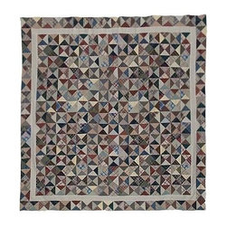 Patch Magic - Kaleidoscope Shower Curtain - 72 in. W x 72 in. L. 100% Cotton. Handmade. Machine washable. Line or flat dry only