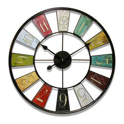 """Infinity Instruments, Ltd. - Kaleidoscope Clock - Infinity Instruments Kaleidoscope is a 24"""" multicolored wall clock. Traditional designed colorful panels has made this wall clock one of the most popular clocks around. Kaleidoscope has proven to be a great staple in home accents."""