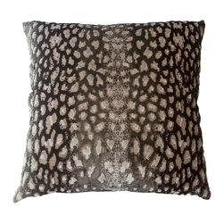 Squarefeathers - Bella Fawn Pillow, *Exclusive to Houzz* - This specked pillow is a charming addition to your living space. It's fun and elegant qualities will lift your spirits while lounging around. Like all of our products, this pillow is handmade, made to order exclusively in our studio.  The Bella Collection is the definition of couture interior design.