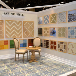 Coverings tradeshow - Float #3 on the floor - various patterns on walls