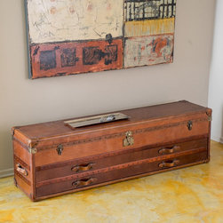 Christopher Knight Home - Christopher Knight Home Aldrin Steamer Trunk Chest - Upholstered in top grain leather with antique stud detailing the quality of this chest will make a statement in any room of your home.
