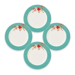 Lenox - Simply Fine Lenox Chirp Dessert Plate (Set of 4) - Lenox fine bone china serves as the canvas for an enchanting watercolor scene. You'll be equally enchanted by the convenience of Chirp.