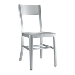 Modway - Milan Dining Side Chair in Silver - Cafe-inspired aluminum design with a timeless appeal. Make yourself a space where time stands still.
