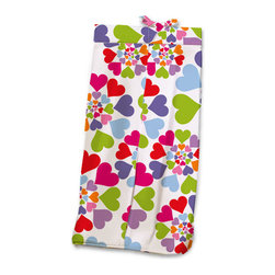 Heart Throb Diaper Stacker - Your baby girls heart will throb watching this fun Diaper Stacker made with designer fabric with graphic swirls of multi-colored hearts. This item is completely made of cotton poplin.