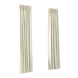 Cream Diamond Pintuck Custom Euro Pleat Drape Single Panel - Luxury meets functionality, tradition meets modernity in the Euro Pleated Drapery. Top-gathered pleats create a waterfall effect for an updated take on the classic pleat that's perfect for classic and modern rooms alike.  We love it in this lightweight solid cream cotton with textured pintucks in a small diamond pattern.