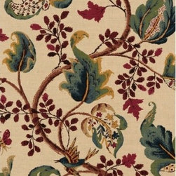 Schumacher - Fox Hollow Fabric, Document/Natural - 2 YARD MINIMUM ORDER