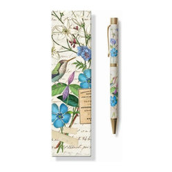 Fringe Studio - Modern Scrapbook Pen - Pens make great gifts, but you'll probably want to keep this one for yourself. Featuring delicate flowers and birds, this pen, with a retractable black ink ballpoint, comes in a matching gift box. Bet you can sign off on that.