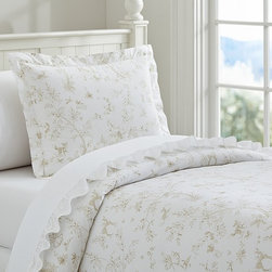 Fairy Dreams Toile Duvet Cover - Sweet woodland scenes are beautifully rendered on our duvet cover in an artful print full of magical storybook style.