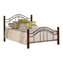 Hillsdale - Hillsdale Matson Bed in Cherry and Black Finish-Twin - Hillsdale - Beds - 1159BTWR - Our Matson Bed offers the exceptional style of artistic design with an even more exceptional price to match. The Matson Bed boasts whimsically curving accents in a mixed media package including solid hardwood cherry-finished posts and elegant metalwork features on the headboard and footboard. Available in twin full queen and king sizes.