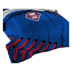 The Northwest Company - Philadelphia Phillies Baseball Twin-Full Bed Comforter Set - Features: