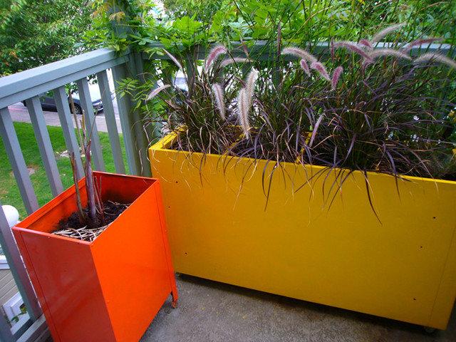 Modern  DIY File Cabinet Planters
