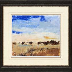 Paragon Decor - Open Range II Artwork - Sun-kissed landscape is printed on fine art paper and framed in espresso finish molding.