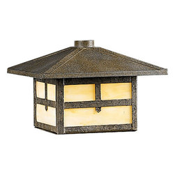 Progress Lighting - Progress Lighting P5262-46 Mission 12v Low-Voltage Single-Light 18W Rail or Post - Recalling old world style and rugged elegance, this stylish outdoor convertible lantern fixture from the Mission collection is the perfect addition to your outdoor spaces. Featuring light honey art glass panels and a pointed roof, this fixture can be mounted on either a standard 4 x 4 post or a rail, offering durable operation and easy and versatile installation.Features: