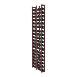 """Wine Racks America - 1 Column Double Deep Cellar Kit in Pine, Burgundy + Satin Finish - Wine storage capacity to the next level. Fit 3 cases of wine on less than 5"""" of wall space! This narrow wine rack is perfect for creating maximum storage capacity from every little nook and cranny without requiring more wall space. This rack is built to last. Guaranteed."""