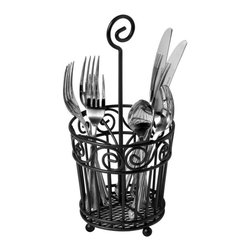 Spectrum - Spectrum Scroll Silverware Caddy - 46110CAT - Shop for Flatware Storage from Hayneedle.com! About Spectrum Diversified DesignsSpectrum Diversified Designs based out of Cleveland Ohio operates out of a 130 000 square foot distribution center and provides services to nearly every continent on the globe. With a specialized team of experts in art design and logistics Spectrum consistently provides top-quality products that are functional attractive and cost-effective. Spectrum is dedicated to providing you with only the best in home accessories. From the kitchen to the bath and all in between you'll find exactly what you need for all of your home needs. The possibilities are endless.