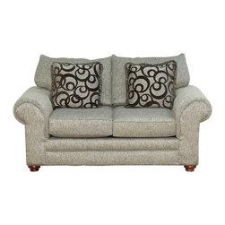 Royola Pacific - Light Gray Plush Contemporary Sofa & Loveseat, Loveseat - Solid hardwood construction