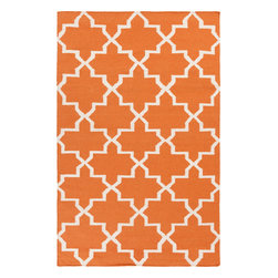 Artistic Weavers - Artistic Weavers York Reagan (Orange) 9' x 12' Rug - This Hand Woven rug would make a great addition to any room in the house. The plush feel and durability of this rug will make it a must for your home. Free Shipping - Quick Delivery - Satisfaction Guaranteed