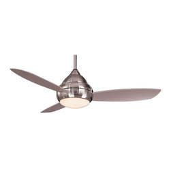 """Minka Aire - Minka Aire F577-BNW Concept Brushed Nickel Flush Mount 52"""" Outdoor Ceiling Fan - Indoor or Outdoor Use"""