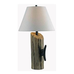 Kenroy Home - Wood Wood Lamps: Cole 30 in. Wood Table Lamp 32055WDG - Shop for Lighting & Fans at The Home Depot. A beautifully created faux wood pylon looks like it came right off a dock. The Nautical theme is as popular as ever, and the Cole lamp ties into that nicely. Say bon voyage to all other table lamps, when the Cole docking in your home.