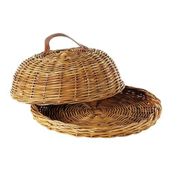 Eco Displayware - Round Domed Rattan Tray in Natural - Earth friendly. 15.5 in. L x 15.5 in. W x 6.5 in. H (5.68 lbs.)Using these tray baskets can add an old world touch to your dining table.