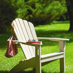 Harborview Adirondack Chair - Enjoy endless days of comfort and relaxation with this maintenance-free adirondack chair.