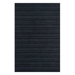 """Loloi Rugs - Loloi Rugs Rhodes Collection - Midnight, 3'-6"""" x 5'-6"""" - The Rhodes collection offers a remarkably simple yet successful design solution to pull together any living space. It expertly balances color and proportion establishing a strong ground to build a room around or to seamlessly be the missing piece to any home furnishing puzzle. With its fine striped lines and subtle texture found within its cut loop construction, Rhodes, tufted in India with 100% wool, can fit into any style and budget."""