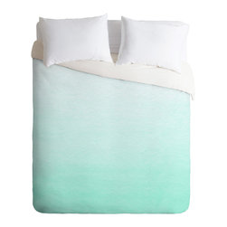 DENY Designs - Social Proper Mint Ombre Duvet Cover - Turn your basic, boring down comforter into the super stylish focal point of your bedroom. Our Luxe Duvet is made from a heavy-weight luxurious woven polyester with a 50% cotton/50% polyester cream bottom. It also includes a hidden zipper with interior corner ties to secure your comforter. It's comfy, fade-resistant, and custom printed for each and every customer.