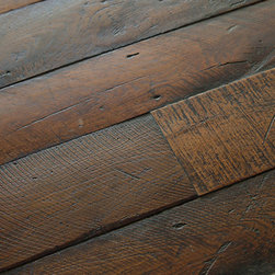 Antique French Oak Large Plank Wood Floors - We love flooring which veers away from the standard strip oak we see in so many American homes and look for material which actually says something. This antique French oak speaks of the generations which have already used it and will create a great base and sense of time in any home.