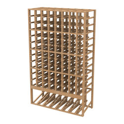 EcoWineracks 8 Column Upper Display Rack, Golden Color, Clear Acrylic Finish - EcoWineracks are the worlds only traditional style wine racks made from non-forested and sustainable bamboo. Bamboo is superior to wood in strength and durability, is non-warping and has consistent grain.