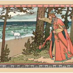 Buyenlarge - King and Goat 28x42 Giclee on Canvas - Series: Bilibin - Russian Tales