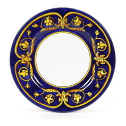 Artistica - Hand Made in Italy - Principato: Salad Plate - Masterfully hand painted our Principato design features a refined design Exclusively available in the USA only throughout Artistica!