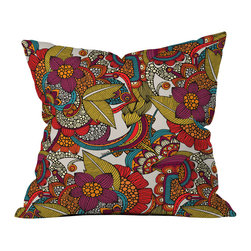 Valentina Ramos Anais Outdoor Throw Pillow - Do you hear that noise? it's your outdoor area begging for a facelift and what better way to turn up the chic than with our outdoor throw pillow collection? Made from water and mildew proof woven polyester, our indoor/outdoor throw pillow is the perfect way to add some vibrance and character to your boring outdoor furniture while giving the rain a run for its money.