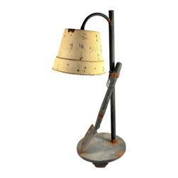 Rusty Shovel Table Lamp - Rusty Shovel Table Lamp